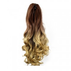 TODO 20 inch Ombre Claw Synthetic Clip-in Hair Ext OMBRE 4/8/30# 20INCH