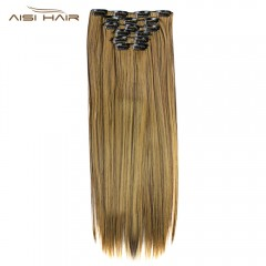 AISI HAIR 16 Clips Straight Long High Temperature  #3
