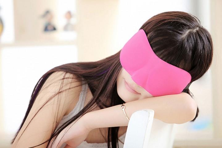 3D Portable Travel Sleep Rest Eye Mask Case