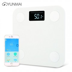 YUNMAI Mini Smart Body Fat Electronic LCD Digital  WHITE