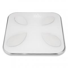 Mengii L1100 Smart Body Fat Scale LED Display Blue SILVER WHITE 300 X 300 X 25MM