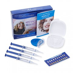 Teeth Whitening Kit with 4 Gel 2 Tray 1 Light for  BLUE