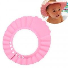 Cute Baby Shower Cap Kids Toddlers Safe Waterproof PINK