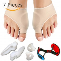 7PCS/SET Bunion Sleeves Hallux Valgus Corrector Alignment Toe Separator as picture