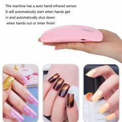 SUNmini UV LED Lamp Nail Dryer Portable UV Nail Dryer Curing Lamp Light pink default