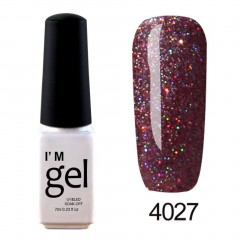 Nail Art Gel Polish UV LED Gel Nail Glue Gel Nail Polish Soak-off Long-lasting 4027 default