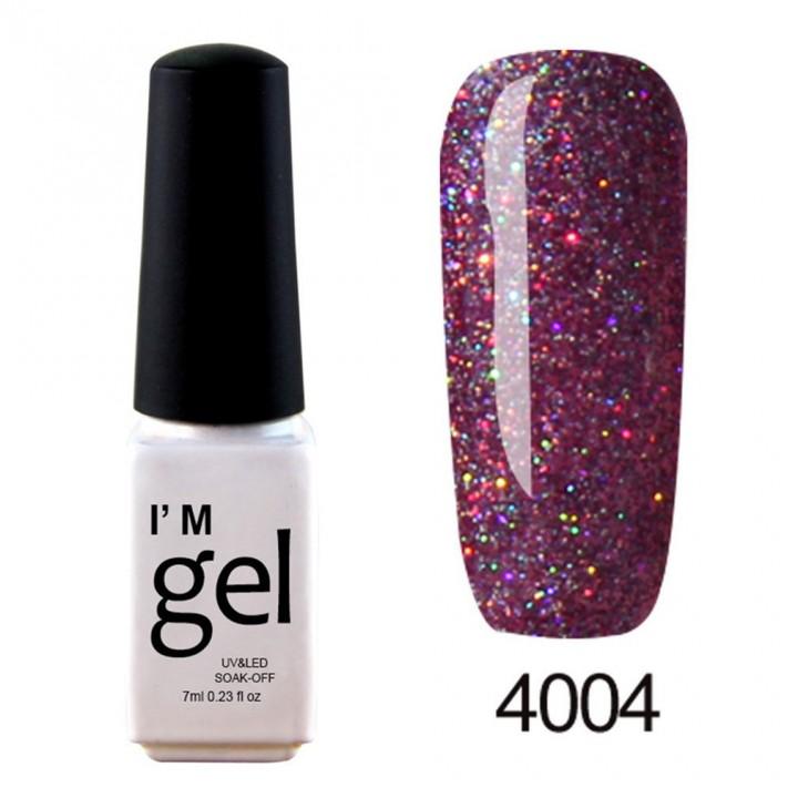 Nail Art Gel Polish UV LED Gel Nail Glue Gel Nail Polish Soak-off Long-lasting 4004 default