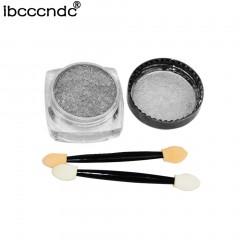 IBCCCNDC 1g/Box Sliver/Gold Nail Glitter Powder Shinning Mirror Powder Nail Art silver 3*1.5cm