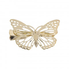 Left/Right Classic Women Unique Golden Hollow Butterfly Hair Clip Headband