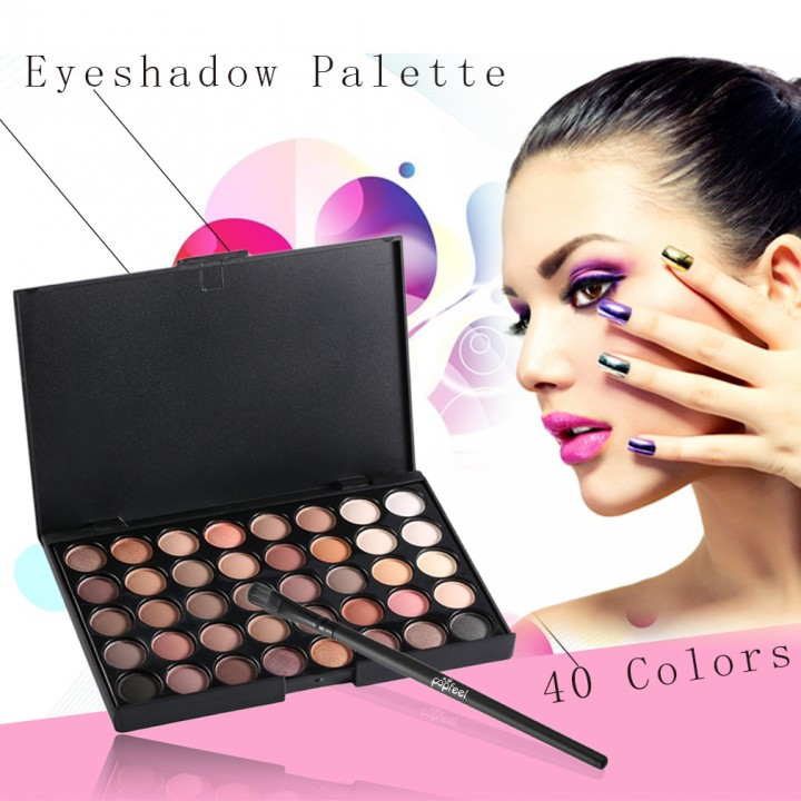New 40 Colors Set Facial Cosmetic Makeup Eyeshadow Palette With Brushes #1