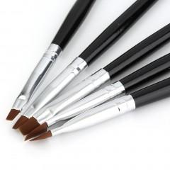5 Pcs Carving Drawing Wooden Pen Manicure Nail Art Tool Pattern Brush Set