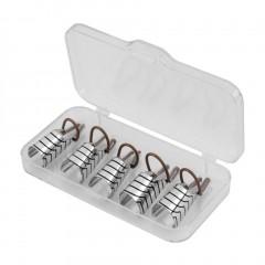 5pcs Reusable Nail Care Aluminum Prop Guide Forms Extension Tool Finger Rest