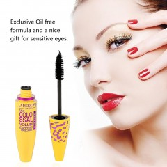 Cosmetic Makeup Extension Length Long Curling Black Mascara Eye Lashes yellow