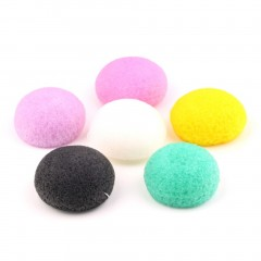 Natural Konjac Konnyaku Fiber Face Wash Cleansing Sponge Puff Exfoliator mix color