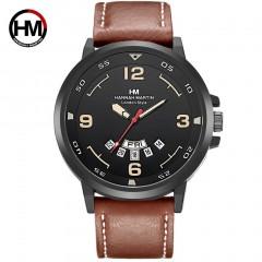 Man Watch With Calendar Function Hannah Martin Casual Sports Quartz Wristwatch
