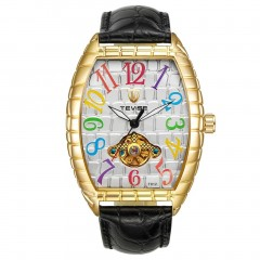 TEVISE T812 Luxury Alligator Print Leather Band Men Automatic Mechanical Watch