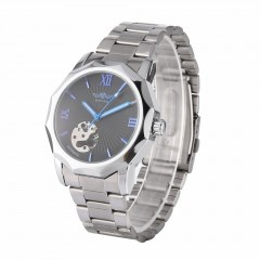 Winner Men Automatic Mechanical Watch Alloy Wristwatches Polygon Wrist Watches as picture default