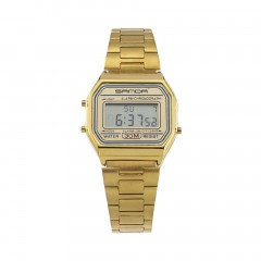 Water Resistant 30M Male Digital Wrist Watch Stainless Steel Band for Gift