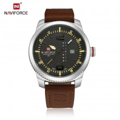 Big Round Dial Men Male Casual Quartz Watch Durable Leather Wrist Watches