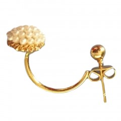 Alloy Artificial Simulated-Pearl Round Ear Stud Earrings Girls