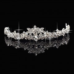 Classic Sparkly Crystal Rhinestone Crown Tiara Wedding Prom Bride's Headband