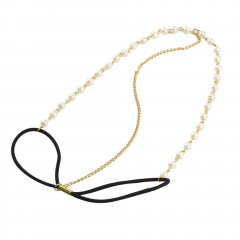Fashion Bohemian Women Metal Pearl Head Chain Jewelry Forehead Headband