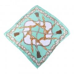 Mini Square Scarf Female Silk Scarf Foulard Print Neckerchief Flower Shawl