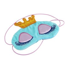 Princess Crown Fantasy Eyes Cover Travel Sleeping  Blindfold Shade Eye Mask blue