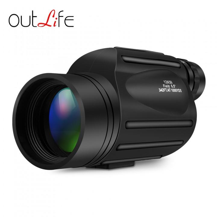 Outlife 13X50 Monocular Telescope Prism Scope BLACK