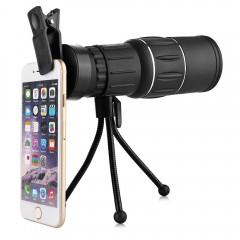 Portable Water-resistant 16 X 52mm Monocular Teles BLACK