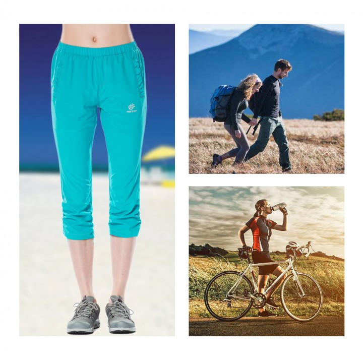 Tectop Women Quick Dry Cropped Trousers Breathable Outdoor Sport Pants