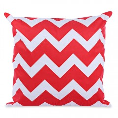 45 x 45CM Geometric Printed Cushion Cover Cotton P RED