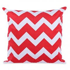 45 x 45CM Geometric Printed Cushion Cover Cotton P RED