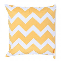 45 x 45CM Geometric Printed Cushion Cover Cotton P YELLOW
