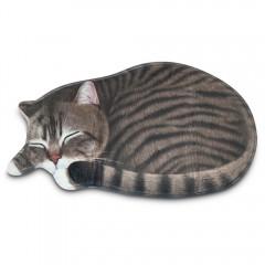 Sleeping Cat Shaped Mat Bedroom Bathroom Area Rug  DARK GOLDENROD 43 X 80