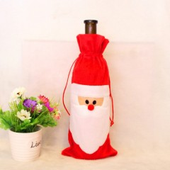 YEDUO Wine Bottle Set Cover Bag Christmas Dinner T RED WITH WHITE