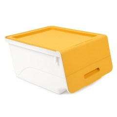 Plastic Thickening Flip Stackable Storage Box YELLOW