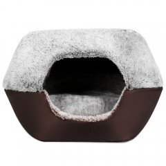 Soft Warm Washable Pet Dog Cat Bed Nest Ger with R LIGHT GRAY