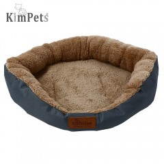 Kimpets Denim Fabric Soft Washable Pet Dog Cat Bed BLUE GRAY S