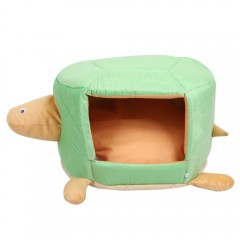 Portable Pet Nest Soft Dog Cat Collapsible House B GREEN S