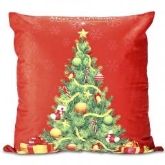 Printed Pillowcase Soft Sofa Cushion Cover Christm COLORMIX