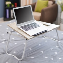 Folding Notebook Table Adjustable Laptop Computer  WHITE