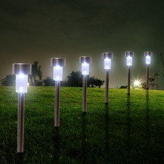 10pcs Outdoor Solar Powered Waterproof LED Courtya WHITE LIGHT
