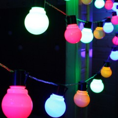 5m 20 LEDs Globe Fairy String Lights for Wedding H COLORFUL US