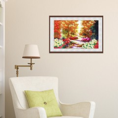 30 x 40cm 5D Woods Landscape Drilled Needlework DI COLORMIX