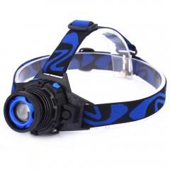 DC 5V 5W 500LM T6 LED Focus Headlamp 3 Modes Recha BLUE US PLUG