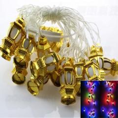 Supli 5M 20 LED Lantern Shaped Fairy String Lights COLORFUL