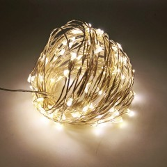 ZDM 10M USB Copper Wire Waterproof LED String Ligh WARM WHITE LIGHT