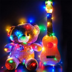 30 - LED Lights Battery Powered Copper Wire String COLORFUL