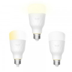 Yeelight YLDP05YL Smart LED Bulb Adjustable Color  WHITE 3PCS